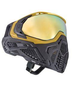 Paintball Maske HK Army SLR Midas gold / schwarz