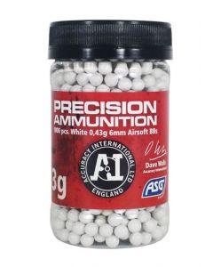 ASG Precision 6mm BB, Heavy 0,43g, 1000er