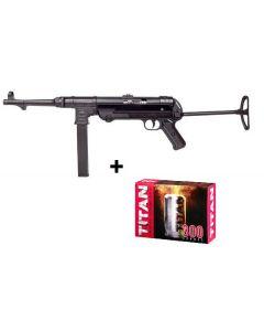 GSG MP40 cal. 9mm Schreckschuss SET inkl. 300 Platzpatronen (Patronen nur Ladenverkauf)