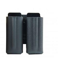 Kunststoff-Gürtelholster für 2x Ersatzmagazin Pfefferspray JPX Jet Protector, Schwarz