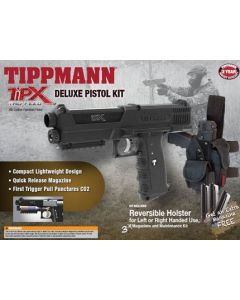 Tippmann TiPX Pistol Deluxe Kit, black