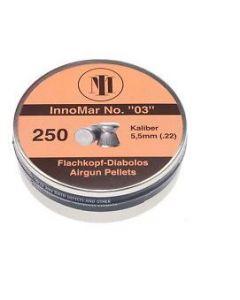 """H&N InnoMar No. """"03"""" Flachkopf Diabolos 5,5mm 250Stk."""