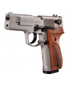 Walther P88 Compact 9mm PAK, Vernickelt, Holzgriff