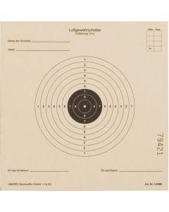 Zielscheiben Luftgewehr, 17x17, 125er