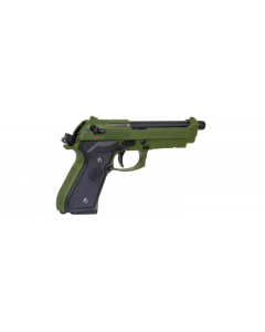 G&G GPM92 MS Metal Version 6mm GBB Airsoftpistole, oliv-green
