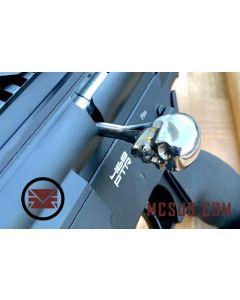 Custom DMR Bolt  Action Handle Skull, chrom stainless steel