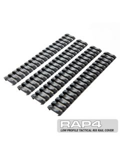 Low Profile Tactical RIS Rail Cover (4x) (schwarz)