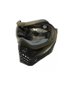 VForce Grill Paintballmaske olive on black,  dunkles Thermalglas