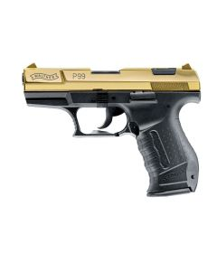 Walther P99 9mm PAK, hochglanz  gold  9mm PAK Sonderedition 20J