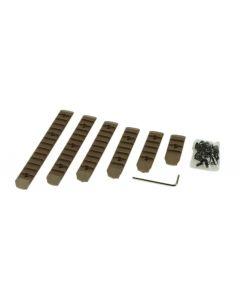 Keymod & M-LOK Rail Set 6er Pack FDE