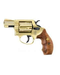 Smith & Wesson Chiefs Special cal. 9 mm R.K. - gold finish, Holzgriff