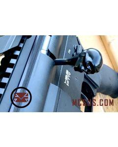 Custom DMR Bolt  Action Handle Skull, black stainless steel