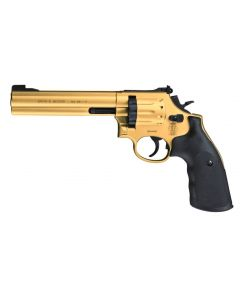 "Smith & Wesson 686 CO2 Revolver 6"" 4,5mm Diabolo-gold finish"