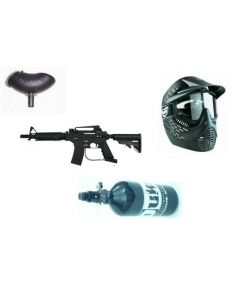 Tippmann Bravo One Elite Set mit Hopper + JT Elite Radar Maske + 0,8l 200bar HP-System