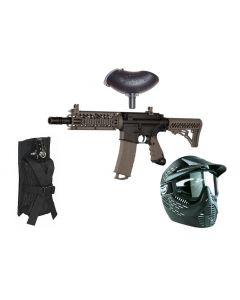 Tippmann TMC dualfeed Markierer Set mit 0,8l Flasche, Molle Tasche, Maske und Hopper