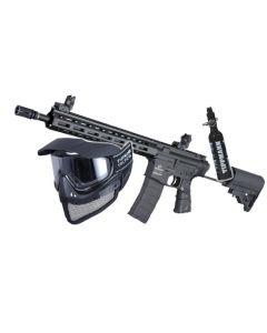 "Tippmann Omega HPA Carbine 14"" 6mm BB, black -Set mit Airsoft Mesh Maske und 0,2l HP System 200bar"