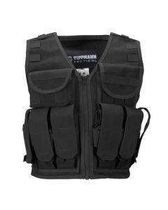 Tippmann Tactical Airsoft Vest mit Flaschenhalterung, black