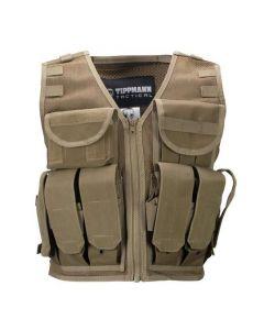 Tippmann Tactical Airsoft Vest mit Flaschenhalterung, coyote tan
