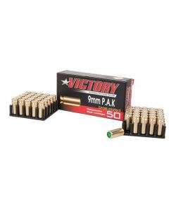 Victory Platzpatronen MAX Brass/ Messing Plated cal. 9mm P.A.K, 50 Stk  Abholung/ kein Versand